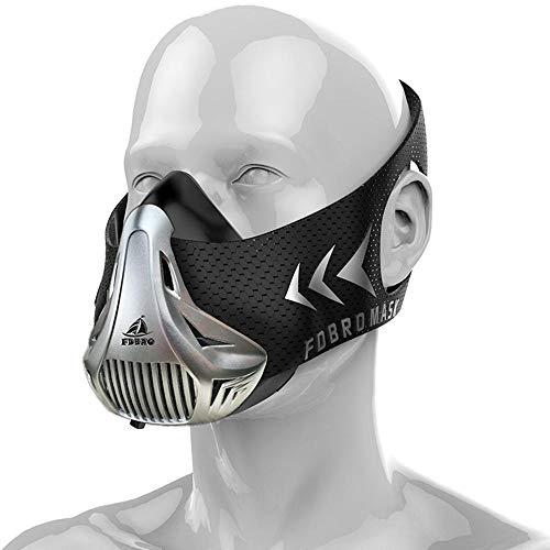Volwco Trainingsmaske Ausdauer Workout Maske Laufmaske Atemmaske Widerstand Maske Cardio-Maske für Performance Fitness High-Altitude-Endurance-Maske mit Tragetasche