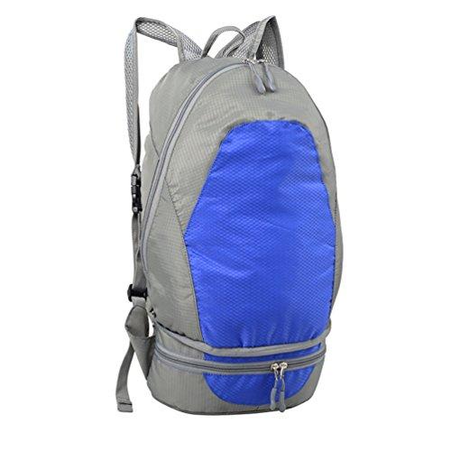 Ein stabiler leicht Gaze Netz mit einem einfach Persönlichkeit; Ein Outdoor Rucksack Klettern Reise Kunstharz Tasche Taille Gürteltasche & faltbar Rucksack & Packable Travel Rucksack Größe: 48* 25*  blau