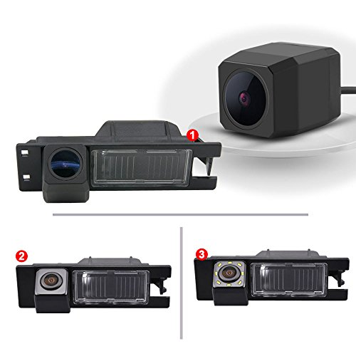 Dynavsal Einparkhilfe, Kamera für Nummerschildbeleuchtung, Kennzeichenbeleuchtung Farb Rückfahrkamera für Astra H Corsa D Vectra C Tigra Meriva A Regal Buick Insignia (Modell 1 Super Pro Kamera)