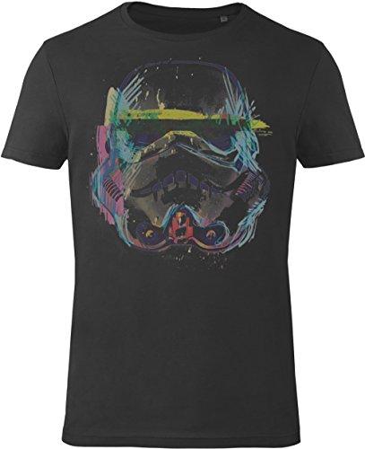 GOZOO Star Wars T-shirt Uomo Imperial Stormtrooper Sketch Art 100% Cotone, Stampa di Alta Qualitá Nero L