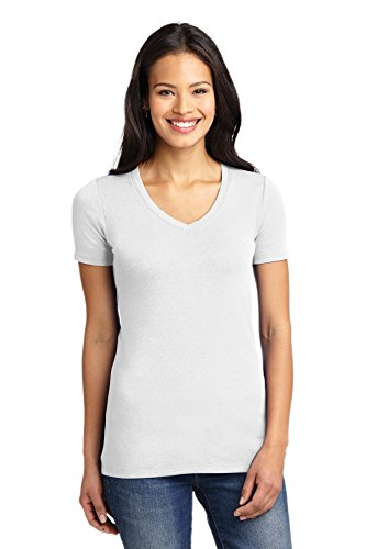 Port Authority® Ladies Concept Stretch V-Neck Tee. LM1005 White 3XL