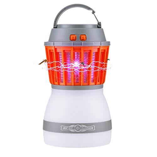 Chao Zan UV Anti-Insectes Camping Moskito Lampe 2 en 1 Moustiquaire Mörder, Tente Lumière IP67 USB Moustiquaire Lampe de Cheminée Lanterne de Camouflage pour la Fumée et Les urgences