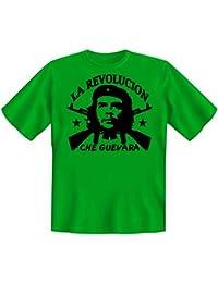 Revoluzzer T-Shirt Ernesto Che Guevara - La Revolucion in hellgrün