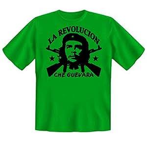 Revolution T-Shirt Che Guevara - La Revolucion (Größe: S) in hell-grün
