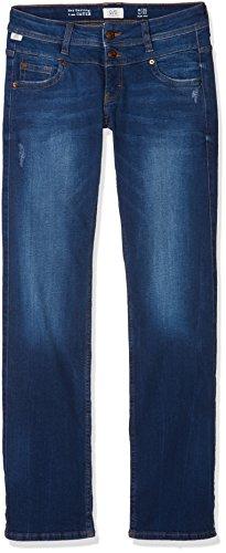 Q/S Designed by Damen Straight Jeans 41.803.71.2537, Blau (Blue Denim/Heavy Stone W 56Z6), W38/L32