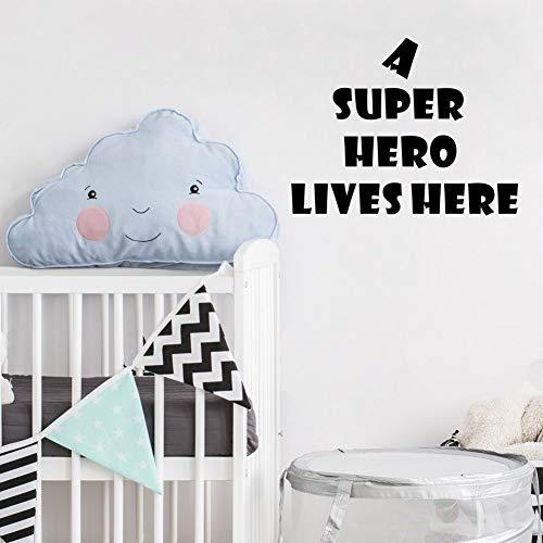 wandaufkleber 3d Wandtattoo Schlafzimmer Inspirierende Zitate Ein Superheld lebt hier für Wohnzimmer Schlafzimmer (Mädchen Superheld Verkleiden)