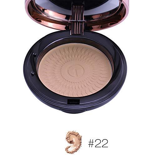 TWBB_Concealer Compact Powder Base Maquillage Compacte Couverture Taches de rousseur et Cercles Noirs Poudre légère et Respirante Huile de contrôle de Maquillage correcteur de lumière
