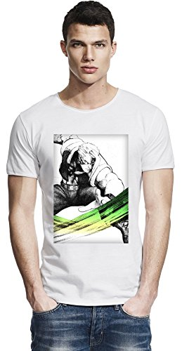 Charlie Illustration Raw Edge-T-Shirt X-Large (Street Fighter Charlie)