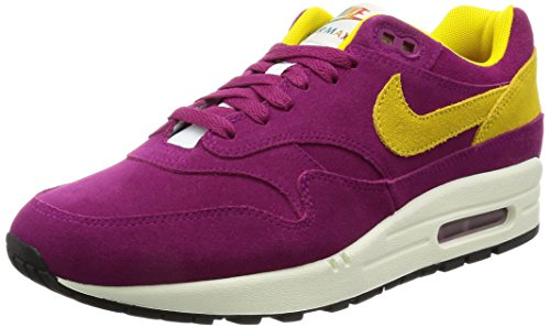 Preisvergleich Produktbild Nike AIR MAX 1 PREMIUM MENS running-shoes 875844-500_11 - DYNAMIC BERRY/VIVID SULFUR-BLACK-SAIL