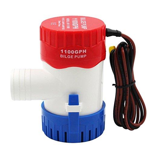 MagiDeal 1 Stück Bilgepumpe Wasserpumpe Mini Elektrische Tauchpumpe 12V/24V Boot-Hardware