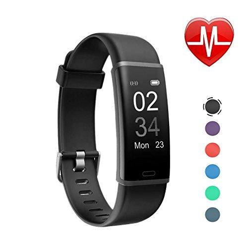 Letsfit Fitness Tracker mit Pulsmesser Fitness Armband Wasserdicht IP67 Schrittzähler Uhr Pulsuhren Smart Armband Uhr Aktivitätstracker mit Schlaf Monitor Kompatibel mit Android iOS Smartphone - Fitness-bluetooth-uhr