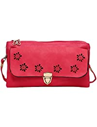 Hawai Pink Cut Work Design Sling Bag For Women