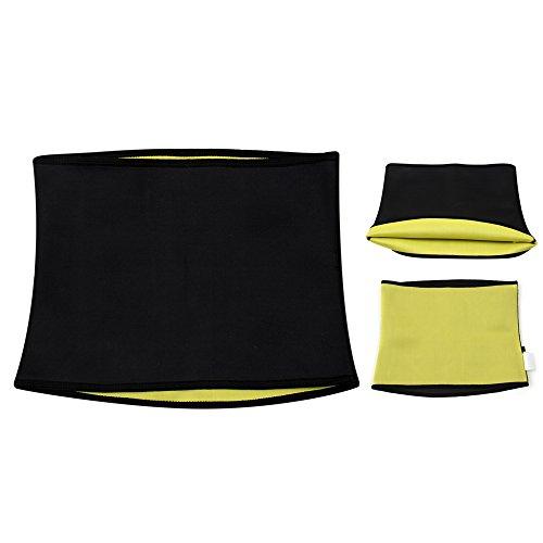 Bauchweg-Gürtel Fitnessgürtel Gewicht verlieren mit Abnehm-Gürtel Damen Herren (Größe M = 69 – 73 cm Taillenumfang)