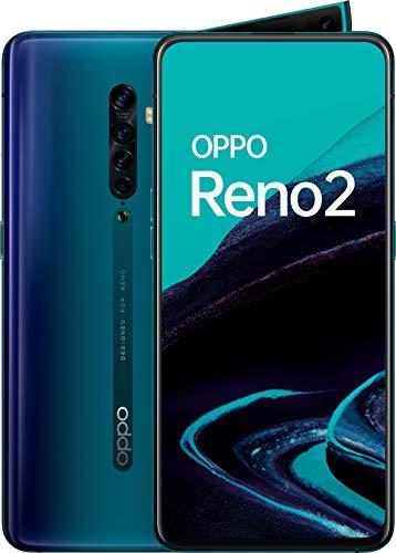 Oppo Reno 2 - Smartphone de 6.55' AMOLED, 4G Dual Sim, 8GB/ 256GB, Qualcomm Snapdragon 730G, cámara trasera 48 MP + 8 MP (gran angular) + 13 MP + 2 MP, 4.000 mAh, Android 9, Azul (Ocean Blue)