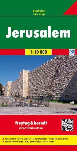 Jerusalem, Stadtplan 1:10.000, freytag & berndt Stadtpläne: Stadskaart 1:10 000