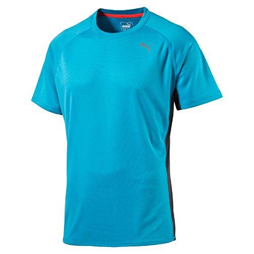 Puma Running S/S Tee Maglietta Sportiva, Azzurro (Atomic Blue/Asphalt), M