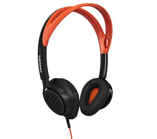 Philips ActionFit - Auriculares de diadema cerrado (3.5 mm, 40 mW, 101 dB), negro y naranja