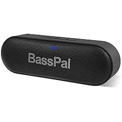 Enceintes Bluetooth, Son stéréo 12W Haut-Parleur Portable, Rich Bass, Fente pour Carte TF, Lecture 24h / 24, Plage Bluetooth 66 ft et Haut-Parleur sans Fil Micro intégré pour Plage de Piscine