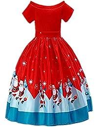 beautyjourney Vestiti Ragazze Natale Elegante Sera Invernali Cerimonia  Vestito Ragazze Natale Abiti Bambine Natale Abito Ragazze 6a0be5632bb