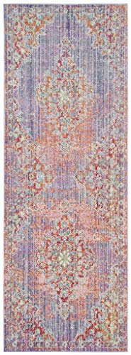 Safavieh Multi Lunners Transitional 3' x 8' Lavender/Fuchsia -