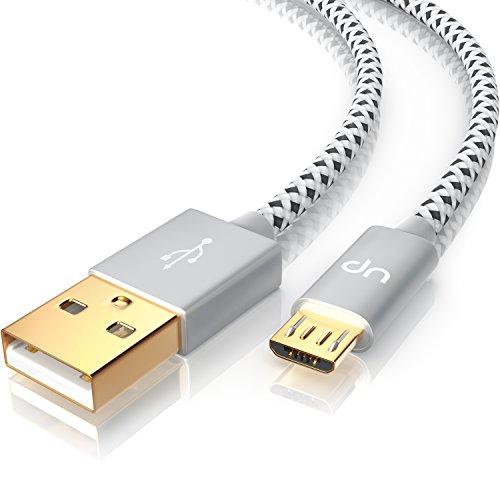 CSL - 1m Premium Micro USB auf USB Kabel mit Metallstecker + Nylonmantel / besonders strapazierfähig | flexibles Lade- und Datenkabel mit vergoldeten Kontakten für Android, Samsung, HTC, Motorola, Nokia, - 2 Ultrabook Lenovo Yoga