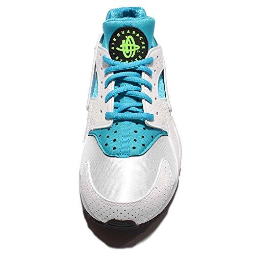 Nike Wmns Air Huarache Run, Scarpe Sportive Donna Bianco (Blanco (White / Gamma Blue-Elctrc Green))