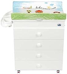 Idea Regalo - CAM Il mondo del bambino C915006/222 Fasciatoio Asia Bianca, Verde