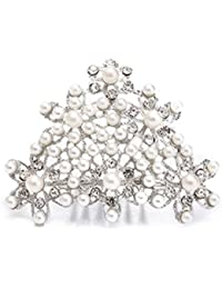 Audrey Hepburn Desayuno en Tiffany's Pearl Tiara Peine Pieza de Pelo Disfraz de Vintage
