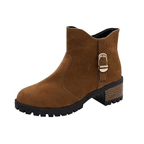 (Stiefel Damen Vintage, Sonnena Freizeitschuhe Frauen Herbst Wildleder Stiefeletten Schuhe Boots High Heels Zipper Stiefel Outdoor Party Booties Casual Martin Stiefel Freizeitschuhe)