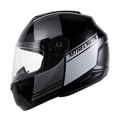 (Männer Frauen Moto Motorrad Helm Erwachsene Breathble Cotton Liner Vollgesichtsmotorradhelme Motocross Sicherheitskappen 11 Farben XXL)
