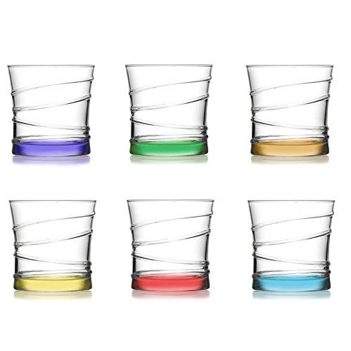 LAV 6 tlg. Design Wassergläser aus hochwertiges Glas Saftglas Wasserglas Getränkegläser 320 ml