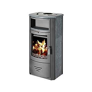 Estufa de leña chimenea quemador de leña estufa para madera, moderno con nicho 7kW
