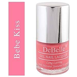DeBelle Gel Nail Lacquer Bebe' Kiss - 8 ml (Baby Pink Nail Polish)