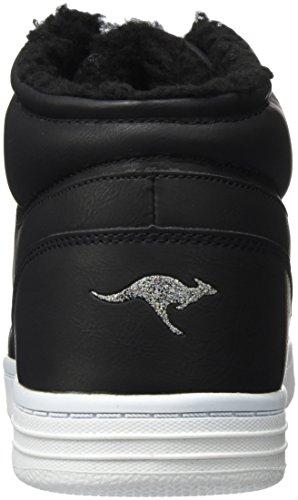 KangaROOS Unisex-Erwachsene K-Glitter Hohe Sneaker Schwarz (Jet Black)