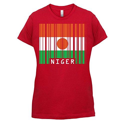 Niger / Republik Niger Barcode Flagge - Damen T-Shirt - 14 Farben Rot