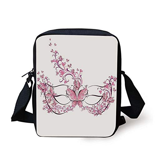 nival Dress Centuries Old Tradition of Venice Theme Design Print,Pink and White Print Kids Crossbody Messenger Bag Purse ()
