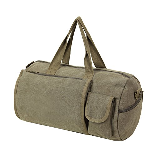 LAIDAYE Fitness Leinwand Umhängetasche Reisetasche Sporttasche Fitnesstasche Große Kapazität Handtasche Green