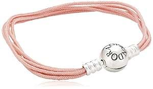Pandora Damen Armband 925 Sterling Silber Stoff 19.0 cm 590715CSP-M2