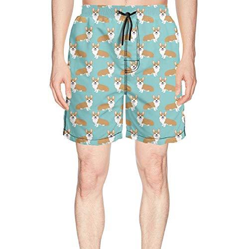 d893504053 Chushiji Corgi Welsh Corgi Gifts Casual Men's Shorts Colorful Surfing Board