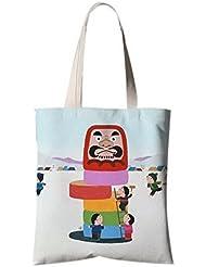 Fleurs de style japonais Illustrator Canvas Bag Travel Shopping Bag Children Games