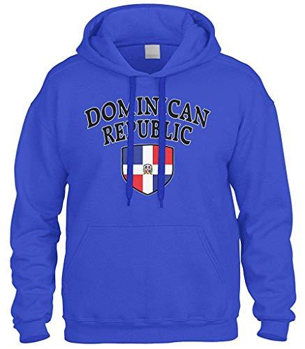 top1998 Dominikanische Republik-Flaggen-Kamm-Schild-SweatshirtHoodie Hoody -