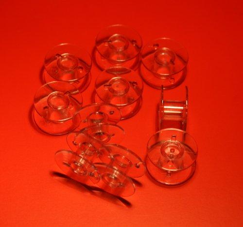 10 Spulen 11,5 (CB) passend für Nähmaschine BROTHER, W6, Carina, SINGER, AEG, JUKI; JANOME