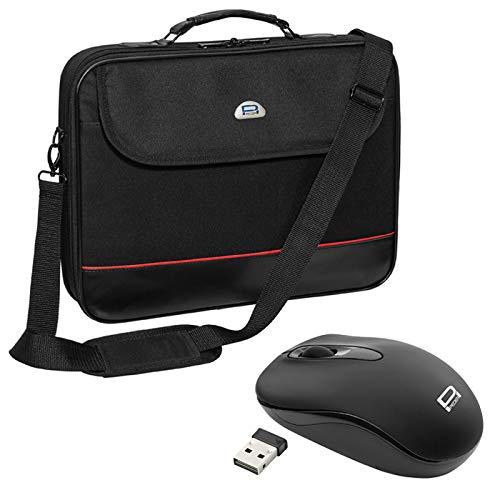 Pedea Trendline Notebooktasche bis 43,9 cm (17,3 Zoll) mit schnurloser Maus, schwarz