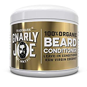 Gnarly Joe 100% Organic Beard Conditioner | Moisturise & Shine Beard Softener | Leave-In Overnight | Natural Balm | Matured Raw Virgin Coconut | 130ml