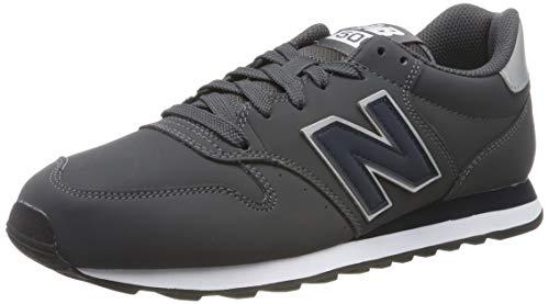 New Balance 500, Zapatillas para Hombre, Gris (Grey/Navy Grey/Navy), 40.5 EU