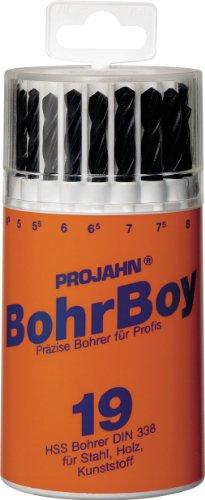 Projahn 60500 Bohrboy Coffret de 19 forets HSS 1-10 mm par 0,5 mm