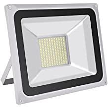 Foco Proyector LED 100W ,7000LM ,220V ,IP65 Impermeable, Blanco Frio 6000-6500K Lámparas Proyector Led Exterior Luz amplia, Luz de seguridad para Jardín, Patio, Terraza, Garaje, Camino de Entrada