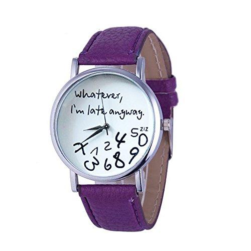 Ultra Mesh Brief (Galy Brief Muster Damen Armbanduhr Einfach Lässig Damen Uhr Rundes Zifferblatt Schlanke Uhr Mode Frauen Armbanduhr Wasserdichte Damen Uhr Quartz Damen Uhr Leder Analog Women Watch)