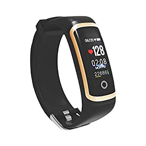 SOULFIT Amaze HR with Blood Pressure Monitoring, Sleep Analysis,OLED Display Activity Tracker Smart Band (Black) with Integrated USB Charger (No Separate Charger Required) - 1 Year Warranty