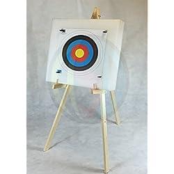 ASD Cible de tir à l'arc en mousse Avec support et 10 blasons 60 x 60 cm